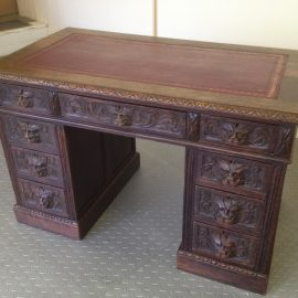 Green man oak desk