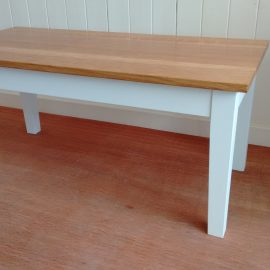 Reclaimed painted base coffee table £245