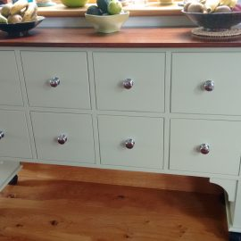 Painted 8 drawer side table